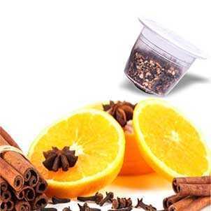 Produzione Infuso Arancia Cannella compatibili Nespresso